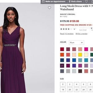 Long Mesh Dress with V-Neck and Beaded Waistband
